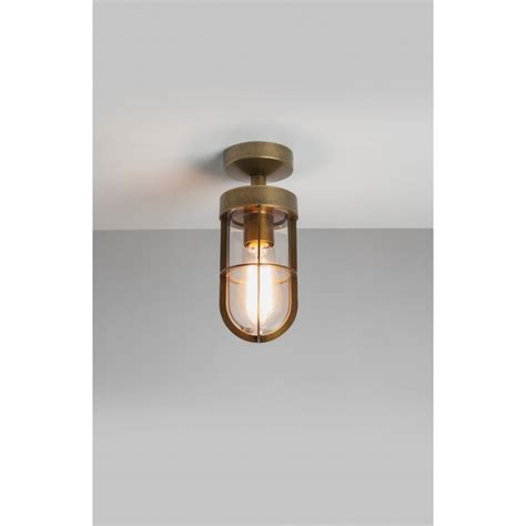 Outdoor Cabin Lights by Astro 7558 Cabin Outdoor Ceiling Light Antique Brass