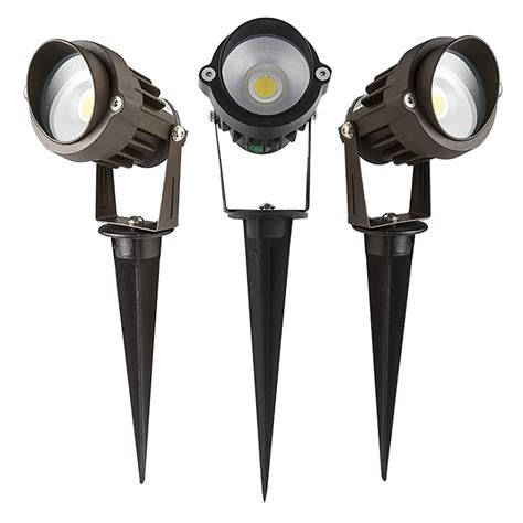 landscape spot light 5 watt landscape led spotlight w mounting spike 250