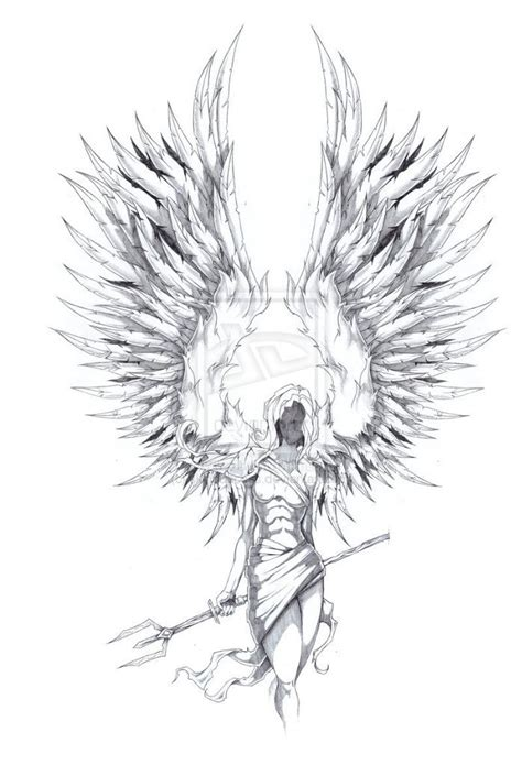 raised wings angel tattoo sketch best tattoo designs