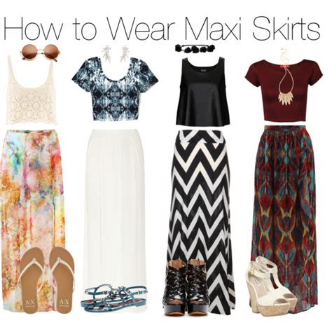 how to wear a maxi skirt polyvore