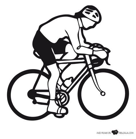 imagenes para colorear bicicleta ciclista al sprint dibujalia dibujos para colorear