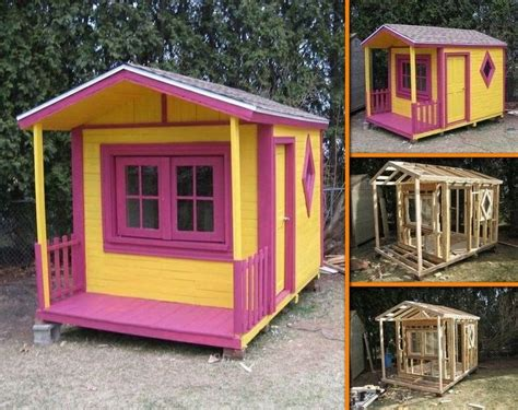 Wooden Wendy House Plans Wendy House Out Of Pallets Stuff Wendy House Pallets And House