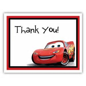 cars note card cars thank you card