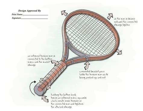 how to string a tennis racquet 13 steps with pictures tennis racquet that string tension can be adjusted with handle