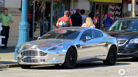 chrome aston martin chrome aston martin rapide shines bright in beverly hills
