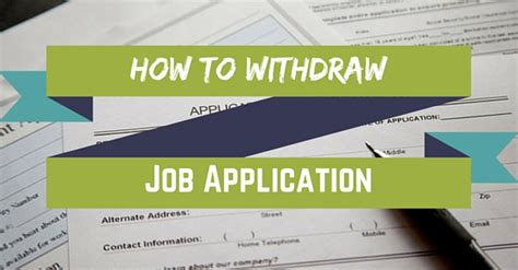 How To Answer On A Application How To Withdraw Application