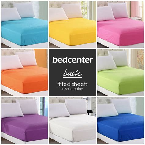 Bed Sheets by Solid Color Fitted Sheet King 100 Cotton