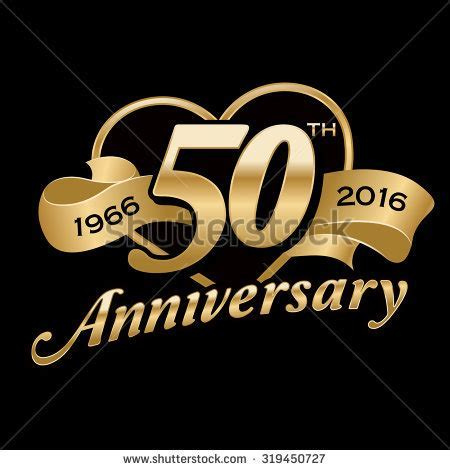 50th Anniversary Background Stock Vector 319450727