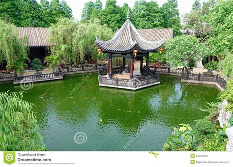 Landscaping Gazebo Chinese Garden Stock Photo Image