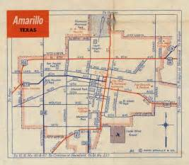 amarillo map of history of amarillo map of amarillo c 1956 1960