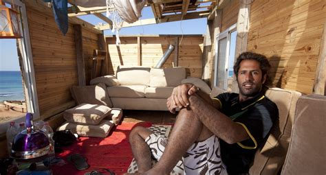 israeli men in bed old bus converts to mediterranean penthouse suite on