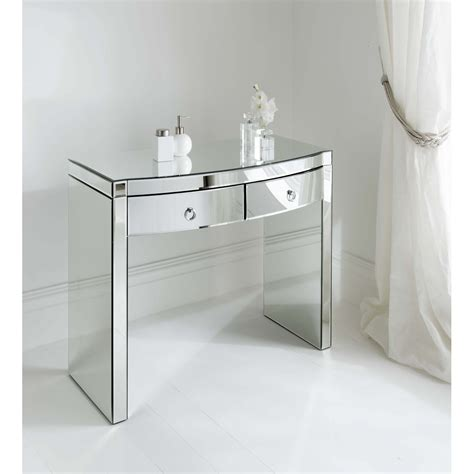 Small Mirrored Desk The Complementary Mirrored Console Table Home Furniture And Decor