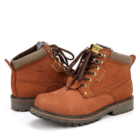 new style boots for new style winter leather outdoor shoes for keep warm