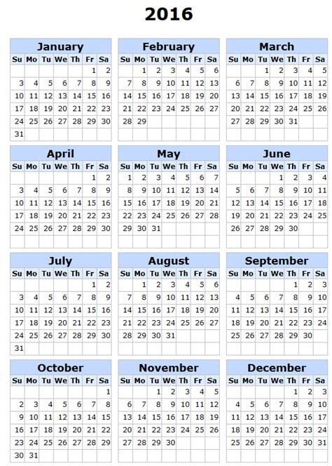 printable yearly calendar 2016 uk 2016 calendar with holidays