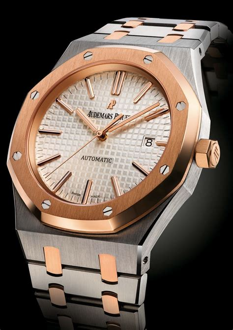audemars piguet royal oak 15400sr two tone on