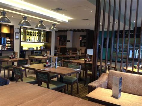 premier inn perth bar restaurant area with coffee facilities on back wall