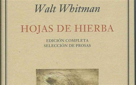 hojas de hierba de walt whitman