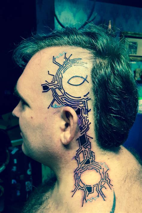 cyberpunk tattoo cyberpunk on cyborg cyberpunk