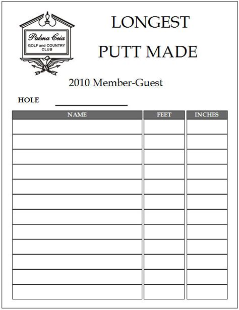 golf outing sign up sheet template best photos of make a sign up sheet free sign up sheet