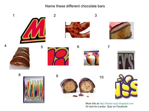 coco trivia chocolate bars picture quiz