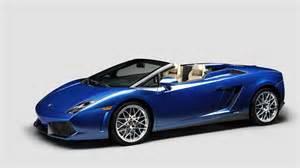 Blue Convertible Lamborghini Gallardo Spyder Convertible 2012 Blue