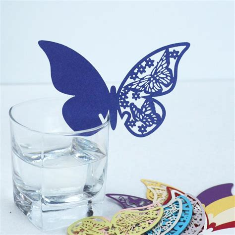 3d Butterfly Decoration 2 Navy Blue Khemiko Shops sell 48pcs lot wedding favor navy blue butterfly place