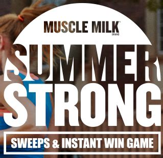 Muscle Milk Instant Win - muscle milk brand summer strong sweeps instant win game