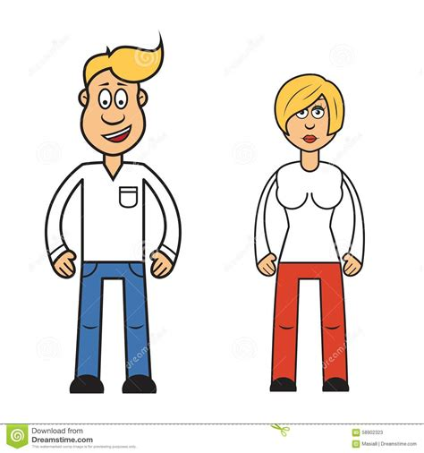 imagenes animadas mujer personaje de dibujos animados de la mujer y del hombre