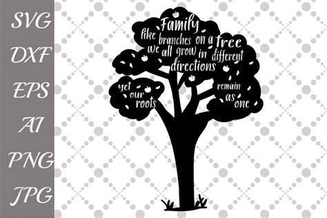 family tree svg  illustrations design bundles