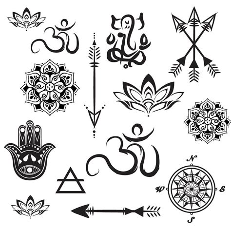 yoga tattoo designs and meanings lotus elephant om aum namaste temporary