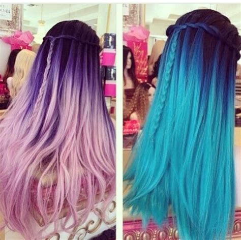 dyed hairstyles blue hair dyed hair hair hairstyles pink hair image