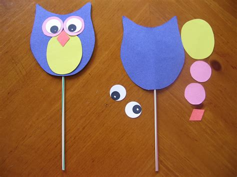 Simple Paper Craft For Preschoolers - free printable wildlife and owl crafts for preschool