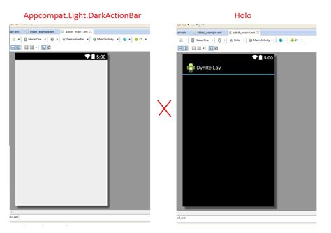eclipse themes light android theme appcompat light darkactionbar style does