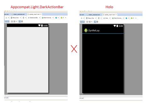 Eclipse Theme Appcompat Light | android theme appcompat light darkactionbar style does