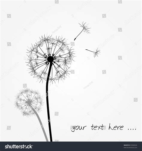 dandelion tattoo design illustrations