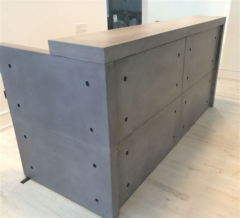 Concrete Reception Desk Made Concrete Reception Desk By Mb Concrete Design Custommade