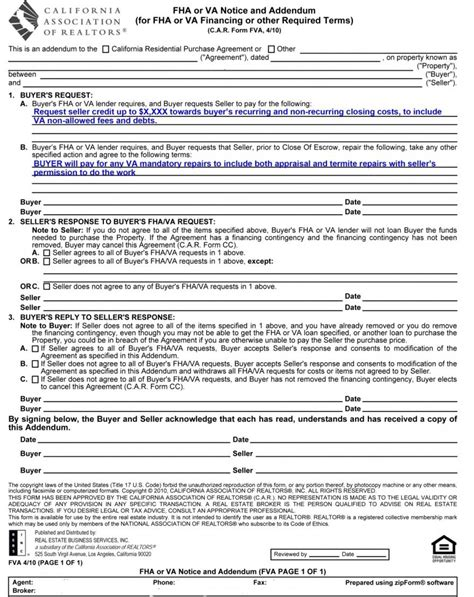 appraisal addendum letter when how to use the fha or va notice and addendum home loans