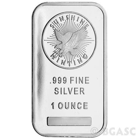 1 oz silver bar buy 1 oz silver bar minting 999 bullion