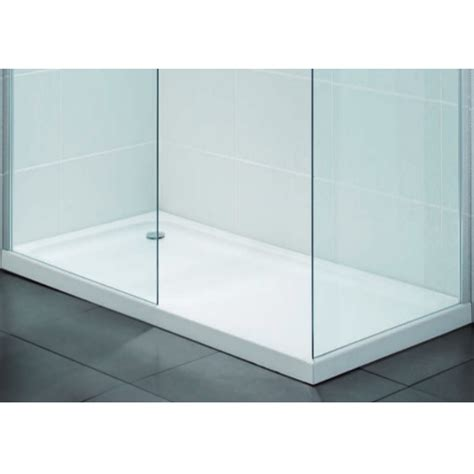 shower tray april low profile stone resin rectangle 900 x 760mm shower