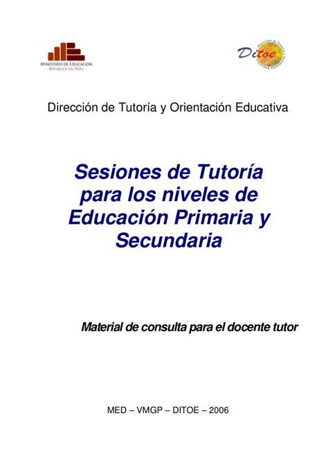 plan anual de tutoria tercer grado de secundaria gratis sesiones de tutor 237 a minedu per 250