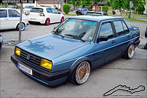 blue vw jetta mk2 on bmw quot style 86 quot wheels click for