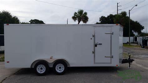 trailer white 7x18 ta trailer white r side door height