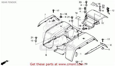 1985 honda fourtrax 250 parts honda trx250 fourtrax 250 1985 usa parts lists car