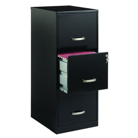 3 drawer metal file cabinet with lock smooth glide home