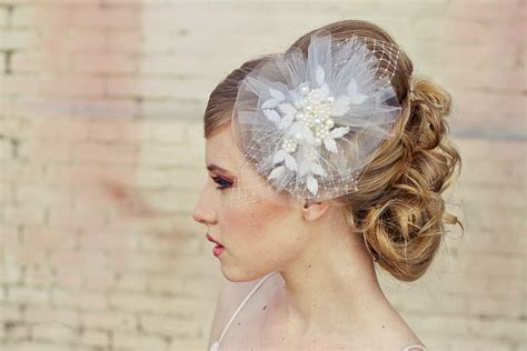 Vintage Wedding Hair Veils by Bridal Hair Accessories With Veil Classic Bridal Veil