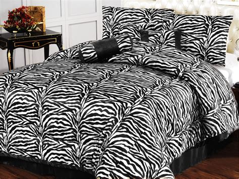 Black Faux Fur Comforter by 7pc New Safarina Zebra Faux Fur Comforter Set Black White