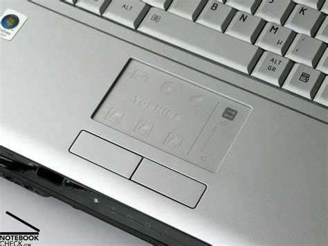 Touchpad Netbook Toshiba test toshiba satego x200 notebook notebookcheck tests