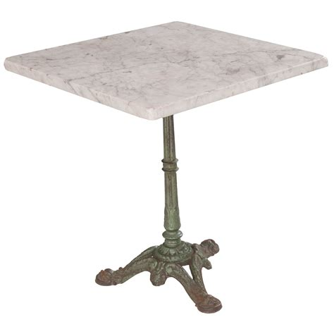 Marble Top Bistro Table Set Early 20th Century Square Marble Top Bistro Table Fireside Antiques