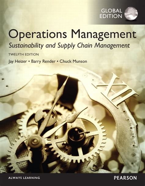 Operation And Supply Management operations management sustainability and supply chain