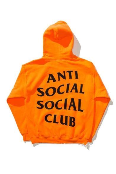 Hoodie Anti Social Social Club 14 unisex anti social social club letter printed back hooded